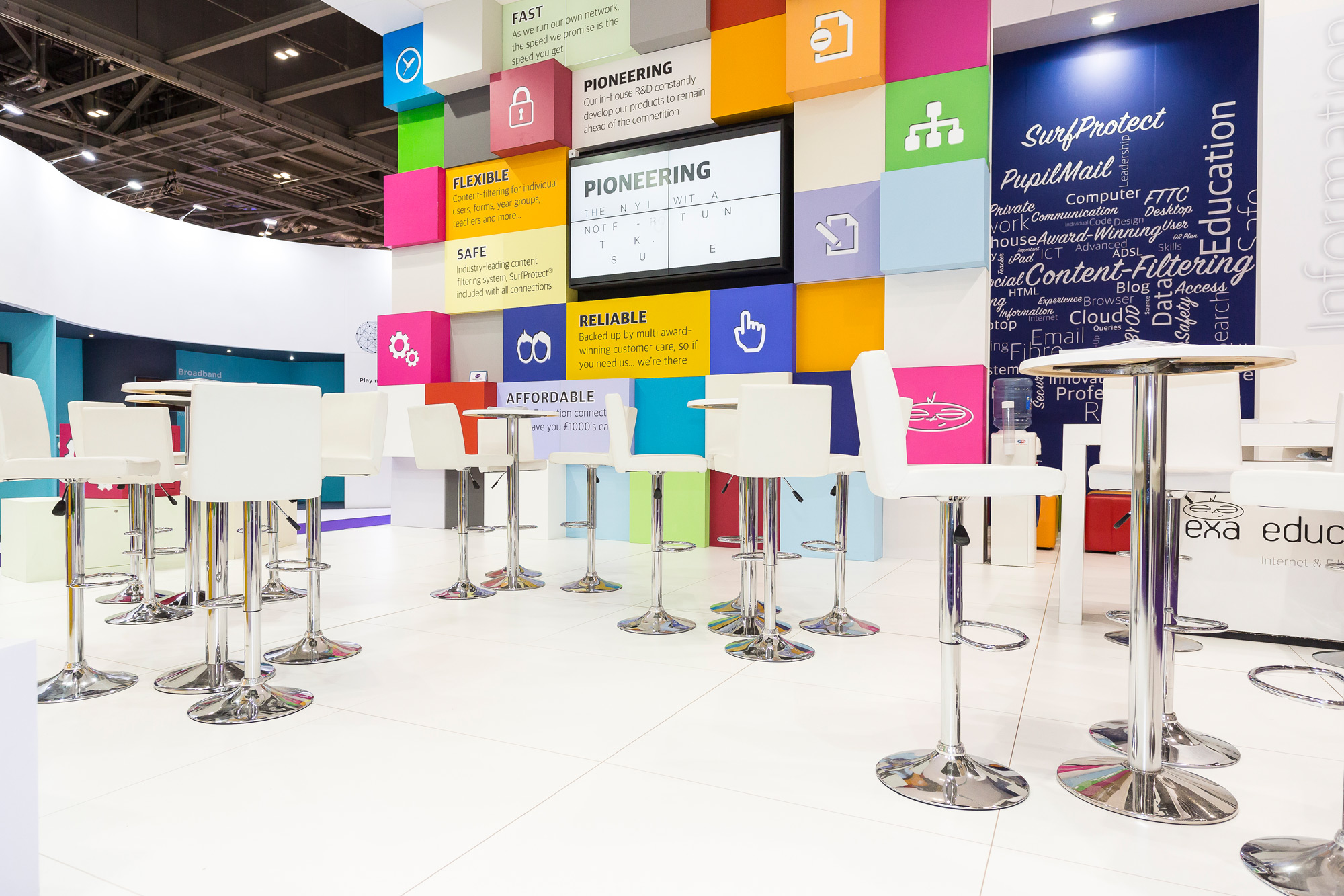 Exhibition Design for Exa Education at Bett - 2BP Design and Build